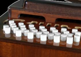 Бандонеон коричневый кнопки